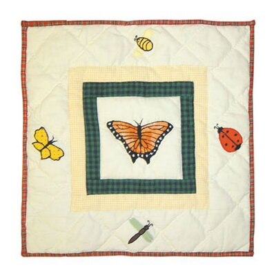Bug Garden Cotton Throw Pillow