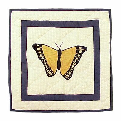 Butterfly Kisses Cotton Throw Pillow