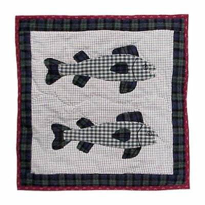 Cabin Fish Cotton Throw Pillow