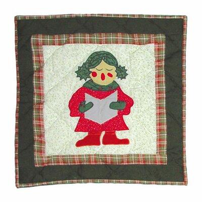 Carolers Toss Cotton Throw Pillow