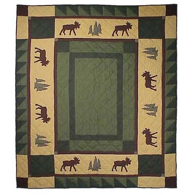 Cedar Trail Cotton Throw Quilt