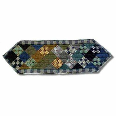 Chambray Nine Patch Table Runner Size-ex-small