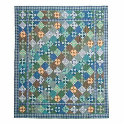 Chambray Nine Patch Quilt Size: Twin