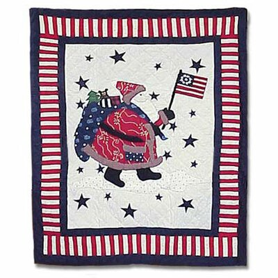 Colonial Santa Quilt Size: King