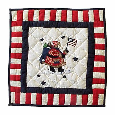 Colonial Santa Cotton Throw Pillow