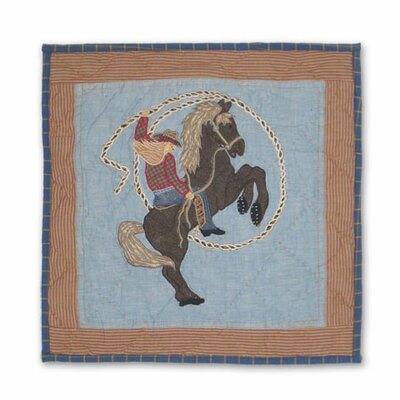 Cowgirl Cotton Throw Pillow