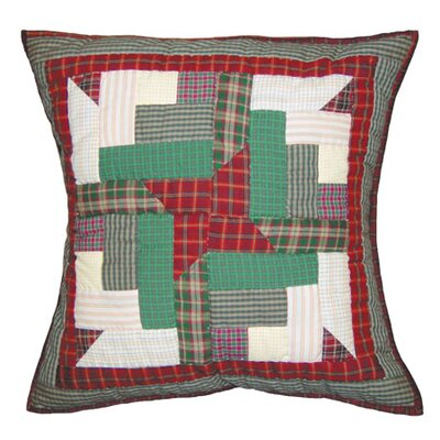 Cranberry Pinwheel Cotton Throw Pillow