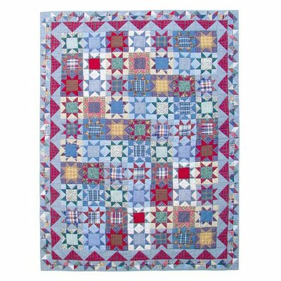 Denim Burst Quilt Size: Full / Queen