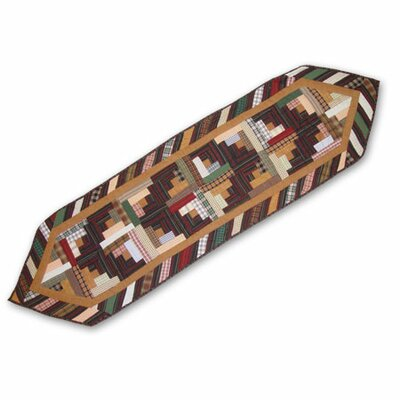 Dusty Diamond Log Cabin Table Runner Size-ex-small