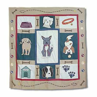 Fido Cotton Shower Curtain