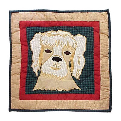 Fido Dog Cotton Throw Pillow