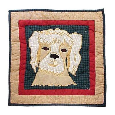Fido Dog Cotton Throw Pillow