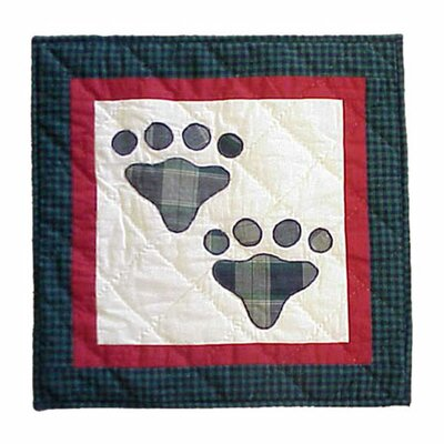 Fido Paw Cotton Throw Pillow