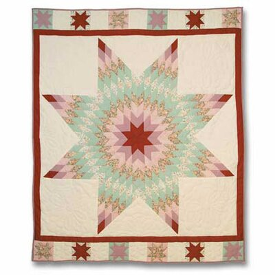 Floral Star Throw Quilt