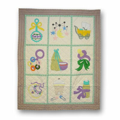 For the New Born Throw Quilt
