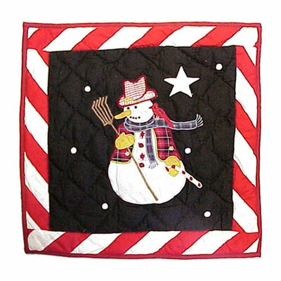 Frosty Snowman Cotton Throw Pillow