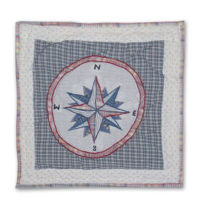 Nautical Compass Cotton Throw Pillow