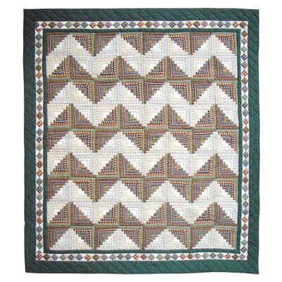 Peasant Log Cabin Quilt Size: Twin