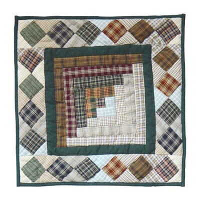 Peasant Log Cabin Cotton Throw Pillow