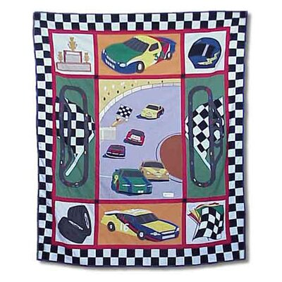 Racecar Cotton Throw Quilt