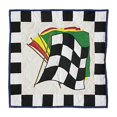 Racecar Cotton Throw Pillow