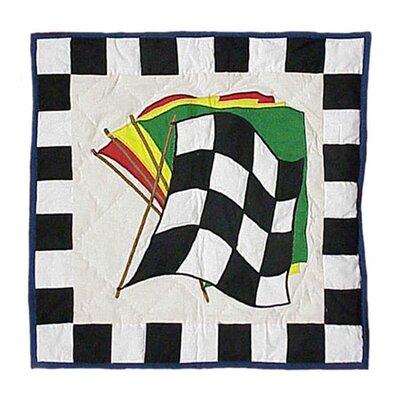 Racecar Cotton Throw Pillow