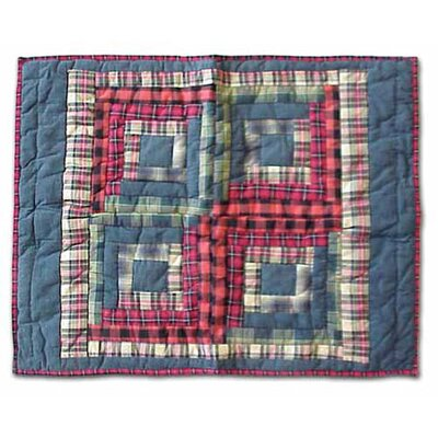 Red Log Cabin Pillow Sham