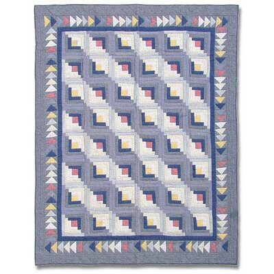 Sail Log Cabin Quilt Size: Twin