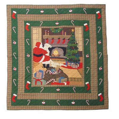 Santa by the Fireside King Quilt
