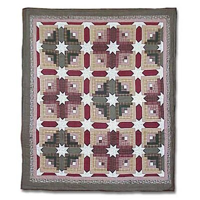Snowflake Log Cabin Quilt Size: King