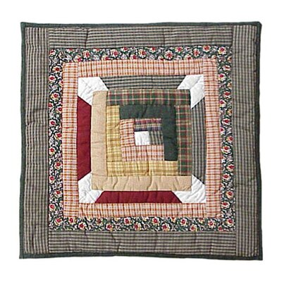 Snowflake Log Cabin Cotton Throw Pillow