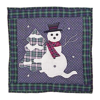 Snowman Cotton Throw Pillow