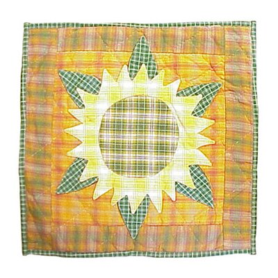Sunflower Toss Cotton Throw Pillow