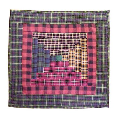 Tartan Log Cabin Cotton Throw Pillow