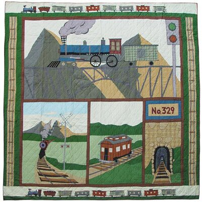 Train Quilt Size: Full / Queen