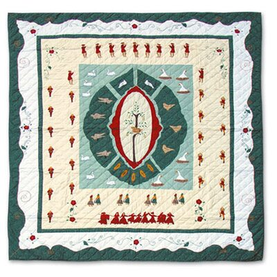 Twelve Days of Christmas Quilt Size: Full / Queen