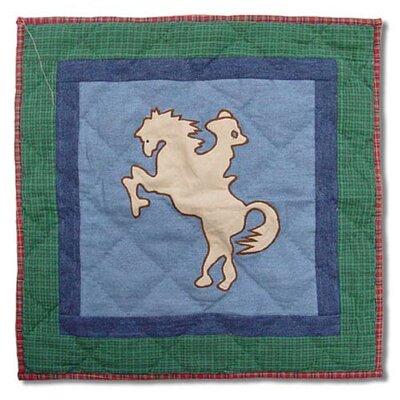 Western Santa Rider Cotton Throw Pillow