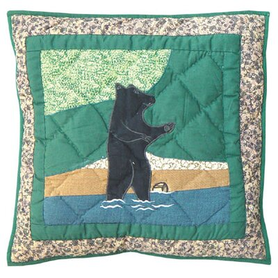 Wilderness Bear Cotton Throw Pillow