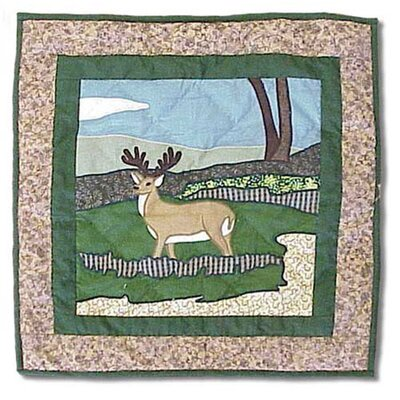 Wilderness Deer Cotton Throw Pillow