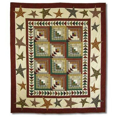 Woodland Star And Geese Cotton Throw Quilt