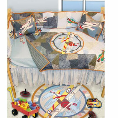 Buy low price patch magic airplane crib quilt baby quilt crib bedding mart - Airplane baby bedding sets ...