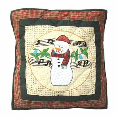 Jolly Snowmen Cotton Throw Pillow