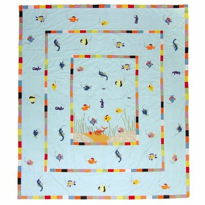 Kids Aquarium Quilt Size: Twin