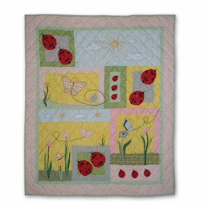 Ladybug Cotton Throw Quilt