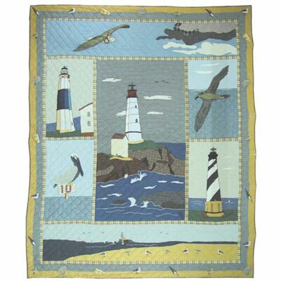 Lighthouse by Bay Quilt Size: Full / Queen