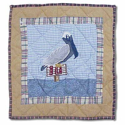 Lighthouse by Bay Pelican Cotton Throw Pillow