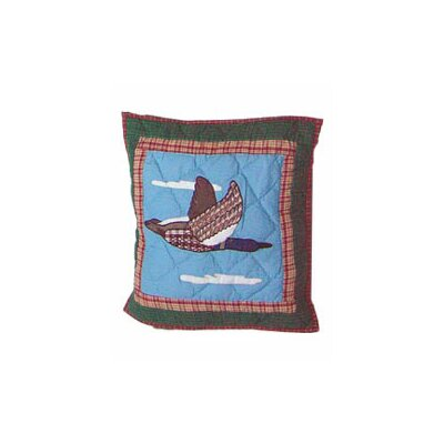 Loon Flying Geese Cotton Throw Pillow
