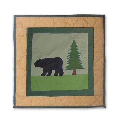 Lodge Fever Bear Cotton Throw Pillow