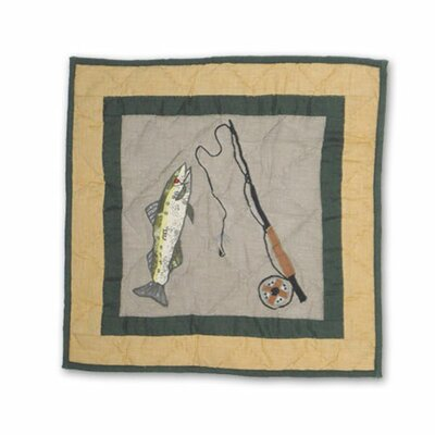Lodge Fever Fishing Cotton Throw Pillow