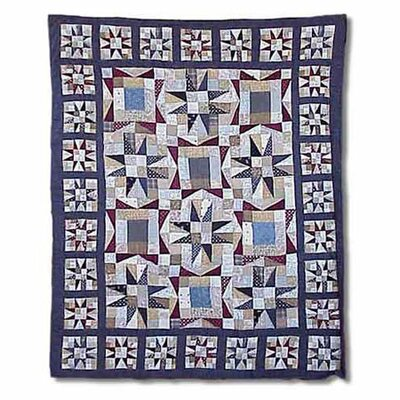 Midnight Star Throw Quilt